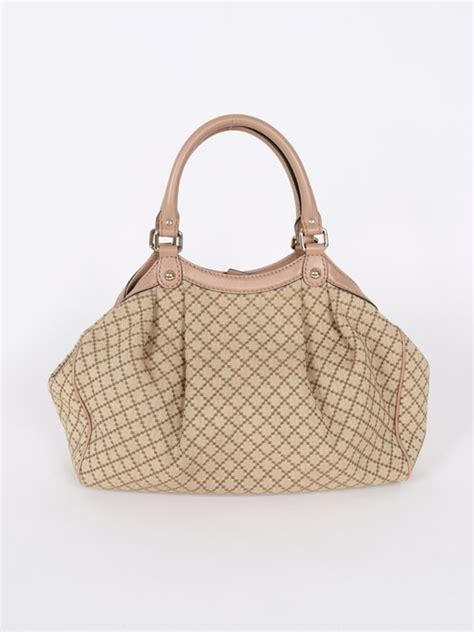 Tas Gucci Sukey Tote Gold Pink High Quality Orlet gucci sukey diamante canvas pink leather bag luxury bags
