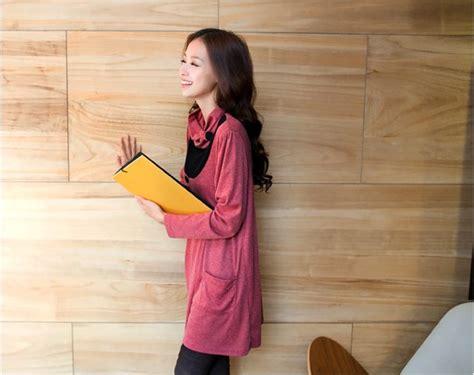 Dress Simple Wanita Lengan Panjang dress wanita korea lengan panjang model terbaru jual