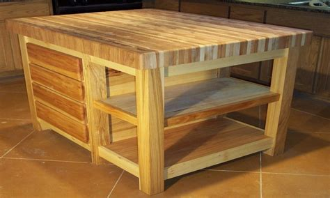 butcher block kitchen island table dining room table plans woodworking butcher block table