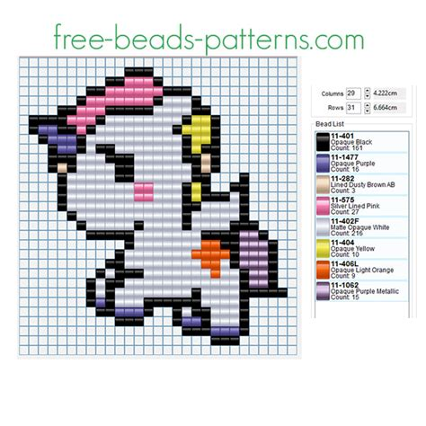 bead pattern design software free download colored cute unicorn free perler beads fusion beads