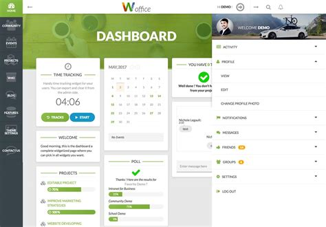 wordpress theme intranet free woffice best intranet extranet wordpress theme