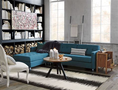 blue tufted sectional 10 rooms featuring modern sectional sofas