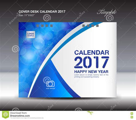 Calendar Cover Desk Calendar For 2017 Year Blue Cover Desk Calendar