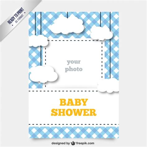 baby shower card template vector free download