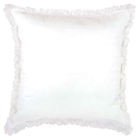 white cusion lunatic fringe white cushion 50x50cm hupper