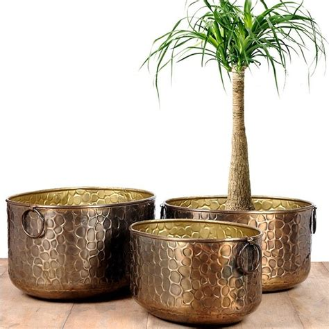 modern pots and planters burnt copper beehive planter modern indoor pots and