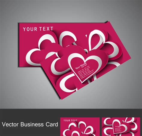 fantastic valentines day colorful business card