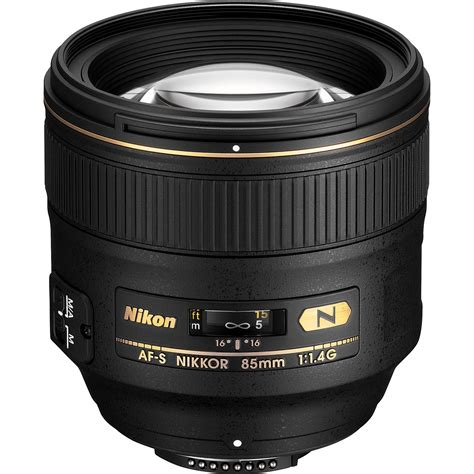 nikon 85mm af s nikkor 85mm f 1 4g lens 2195 b h photo