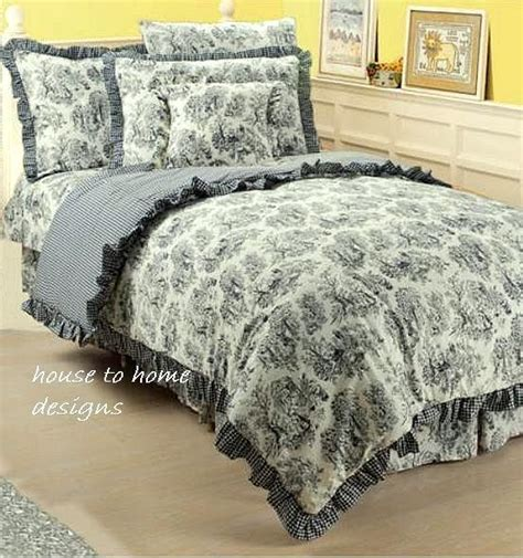 black and white toile bedding black white toile twin single comforter chic french