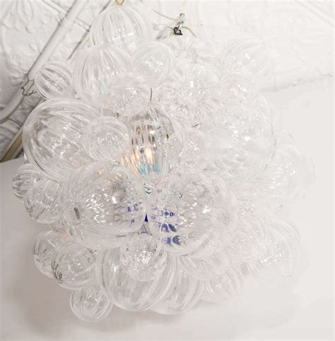 Glass Bubbles Chandelier Small Glass Chandelier With Clear Handblown Bubbles At 1stdibs
