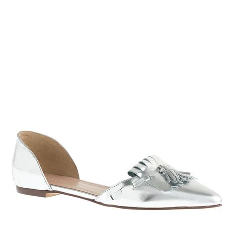 j crew silver loafers j crew women s mirror metallic d orsay loafer flats in