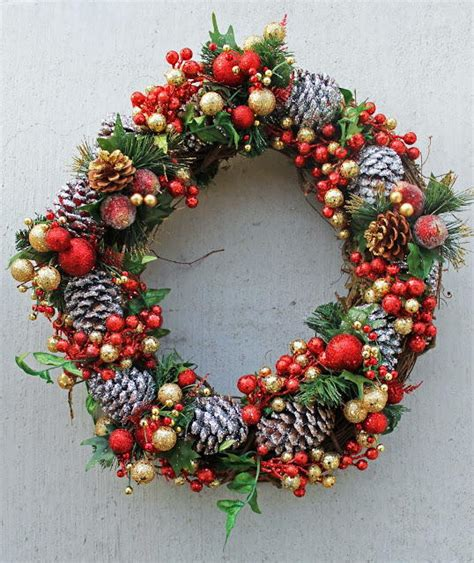 pine cone diy wreath favecrafts com