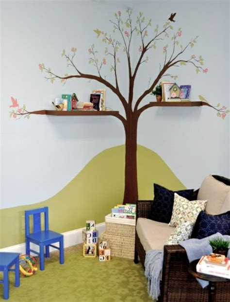 wandregal kinderzimmer baum kinder b 252 cherregal tolle ideen