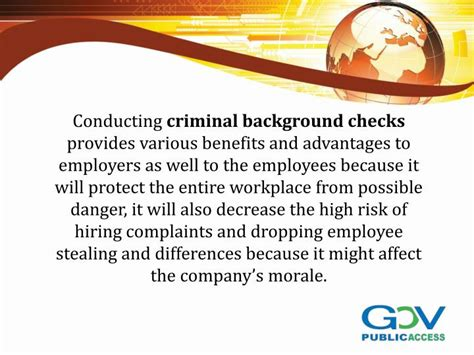 Background Check Types Ppt Revealing The Different Types Of Criminal Background