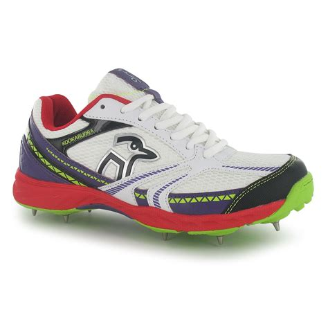 kookaburra mens pro 515 spike cricket shoes lace up sports