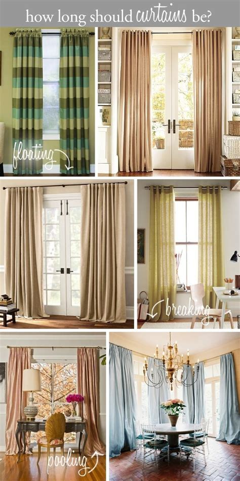 should curtains go to the floor 1000 ideas about curtain length on pinterest how to fit