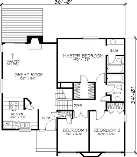 modern 2 story house floor plan residential 2 storey house