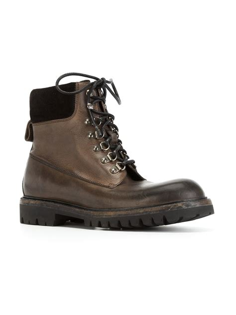 dolce gabbana hiking boots in brown for lyst
