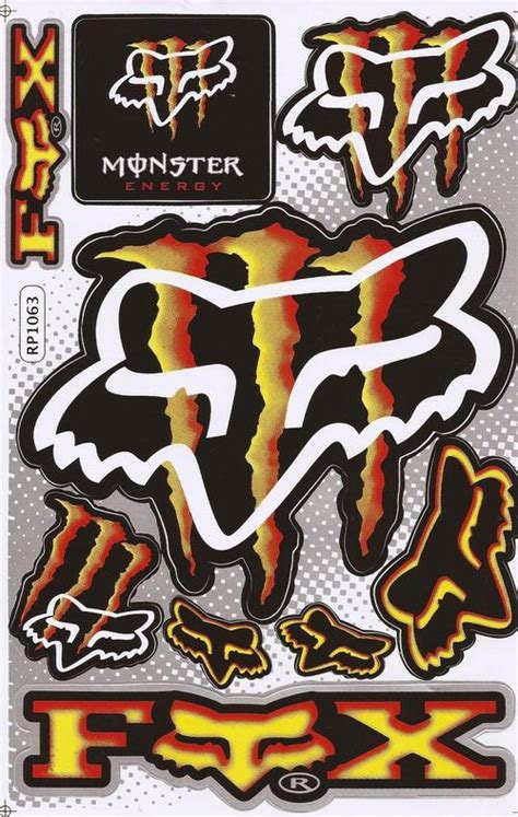 Monster Aufkleber Gelb by Other Special Offer Vinyl Stickers Monster Fox