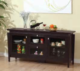 Espresso Buffet Table Furniture Of America Cedric Modern Buffet