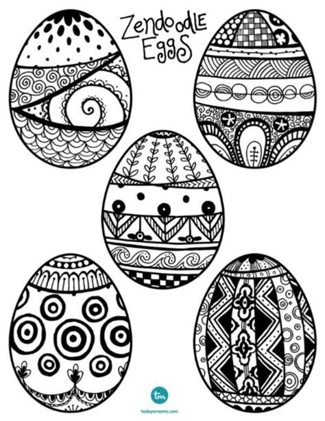 doodle how to make egg ready for easter zendoodle easter egg coloring pages