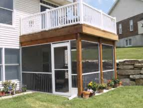 Screen Room Ideas by Screen Rooms And Features Traditional Deck St Louis