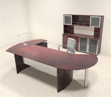 modern l shaped desk 5pc modern contemporary l shaped executive office desk set mt med o17 ebay