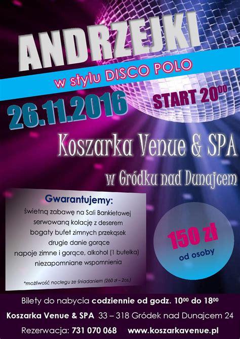 Plakat Andrzejkowy by Andrzejki Plakat Koszarka Venue Spa