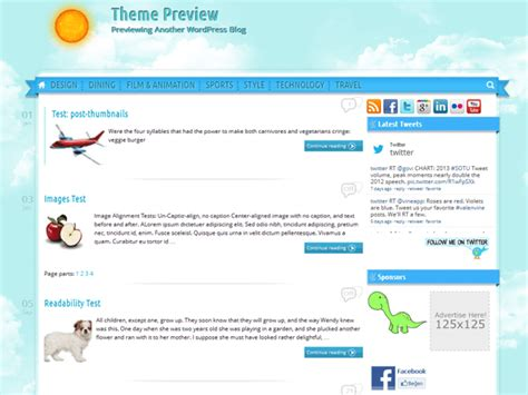 wordpress themes free blue theme directory free wordpress themes