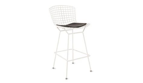 Bertoia Bar Stool With Seat Pad by Bertoia Counter Stool With Seat Pad Industrial Mid
