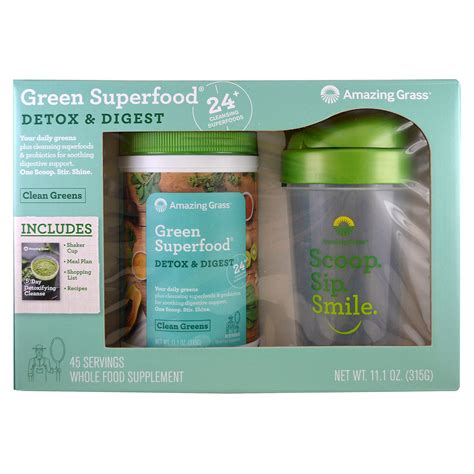 Amazing Grass Detox And Digest Review by Amazing Grass Green Superfood Detox Digest Shaker Gift