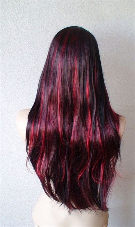 pictures of sapphire black hair with red highlights suvite roscate pe par brunet blond si saten beauty revealed
