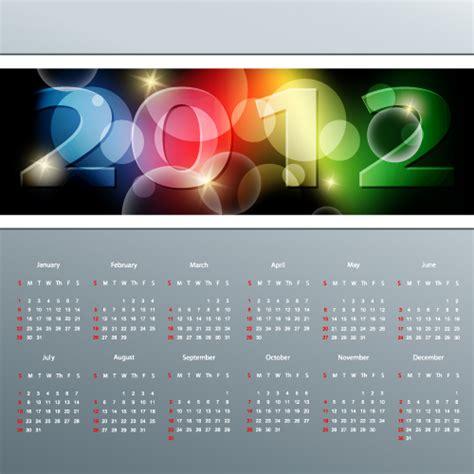 calendar design templates free download calendar 2012 template design vector download free