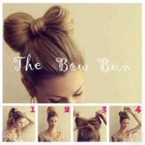 Bow Hairstyle Step By Step by The Bow Bun Hair Style Step By Step Hair Styles