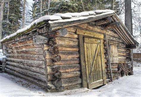 Small Cabin Designs And Floor Plans Trappers Cabin Photograph By Thomas Payer
