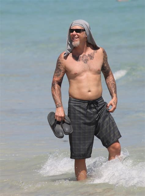 james hetfield in metallica members at the beach zimbio
