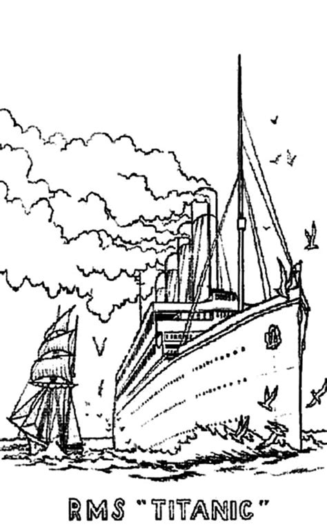 free titanic sinking coloring pages