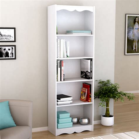 white 5 shelf bookcase shop corliving hawthorn white 5 shelf bookcase at