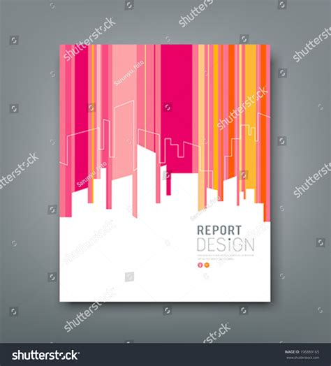 design magazine vector cover magazine silhouette building colorful background