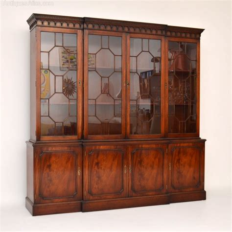 antiques atlas large antique style mahogany breakfront