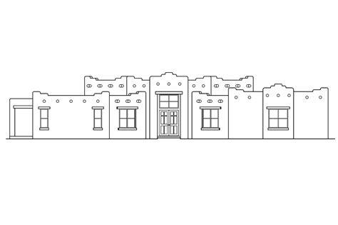 santa fe home plans southwest house plans santa fe 11 127 associated designs