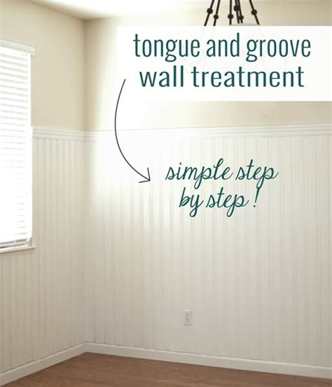 diy tongue groove walls centsational girl