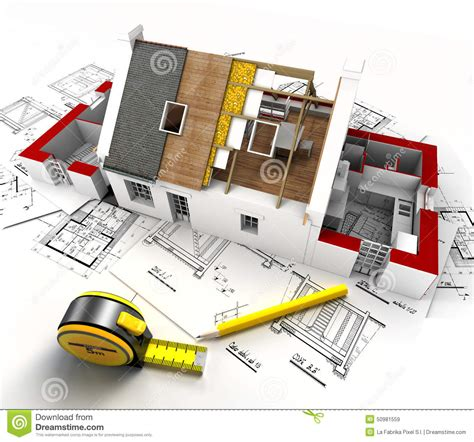 House Construction Overview Stock Photo   Image: 50981559