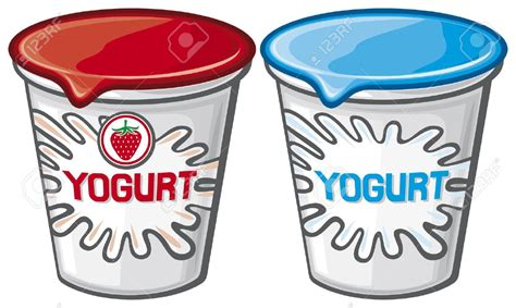 clipart yogurt stock vector strawberry yoghurt and spoon id 24004