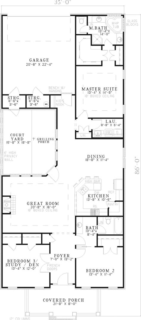 Narrow Lot Ranch House Plans by Best 25 Narrow Lot House Plans Ideas On Pinterest