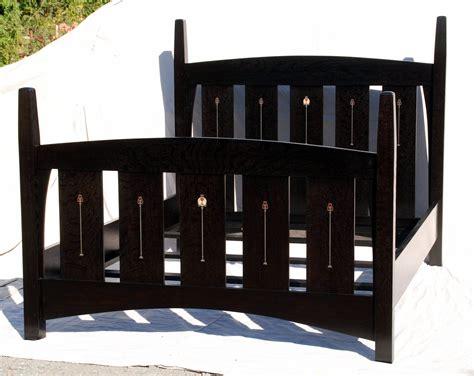stickley beds voorhees craftsman mission oak furniture gustav stickley harvey ellis inspired queen