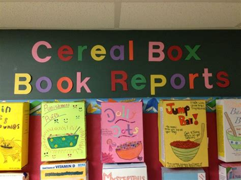 cereal box book report ideas cereal box book reports steven noyes 4th grade