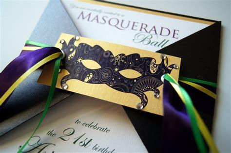 Handmade Masquerade Invitations - ariannes masquerade custom invitation suite 6 00