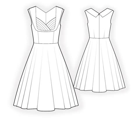 online pattern download dress sewing pattern 4519 made to measure sewing