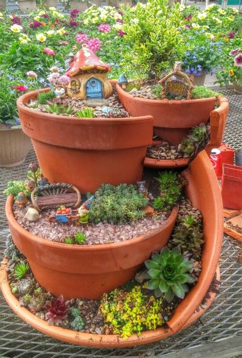 clay pot garden best 25 broken pot garden ideas on